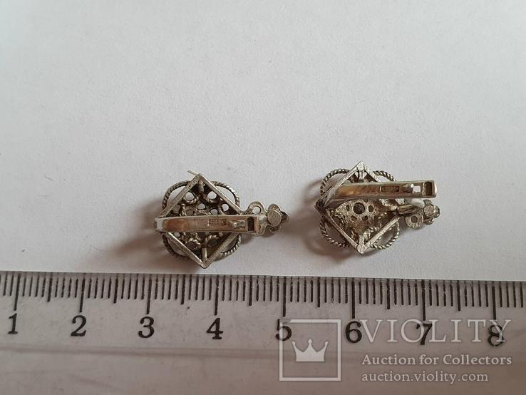 Советские серьги. Серебро 925 проба., фото №5