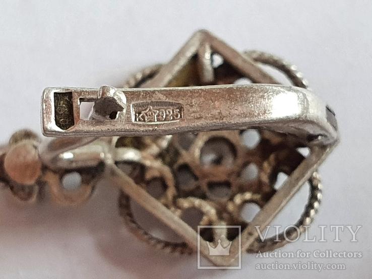Советские серьги. Серебро 925 проба., фото №6