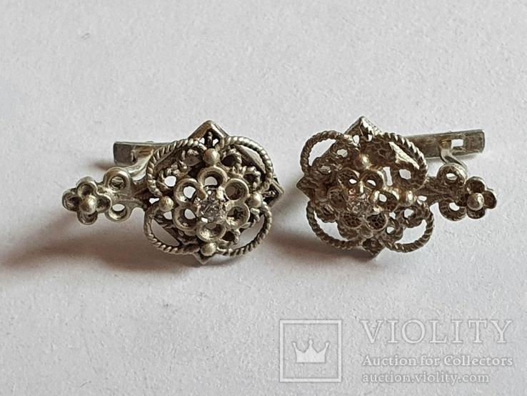 Советские серьги. Серебро 925 проба., фото №7