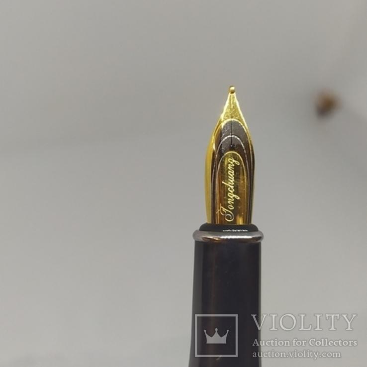 Перьевая ручка. Тяжеленькая. Длина 137мм, фото №9