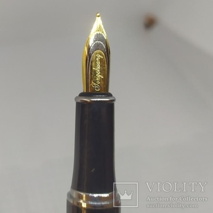 Перьевая ручка. Тяжеленькая. Длина 137мм, фото №10