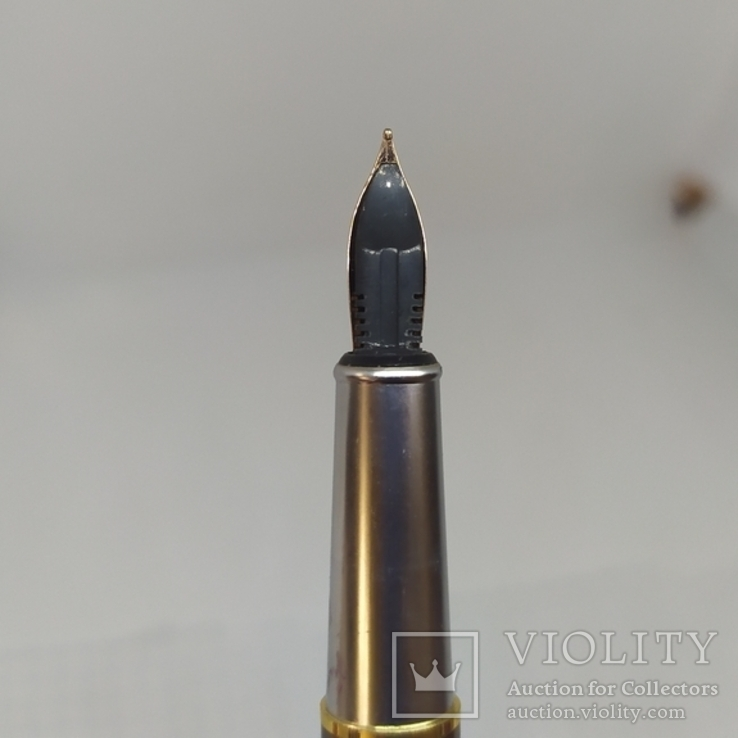 Перьевая ручка Позолота. Тяжеленькая. Длина 135мм, фото №12