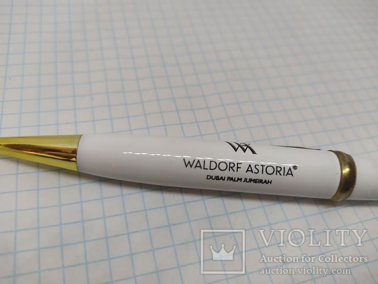 Шариковая ручка Waldorf Astoria со стилусом. Тяжеленькая. Длина 125мм, фото №3