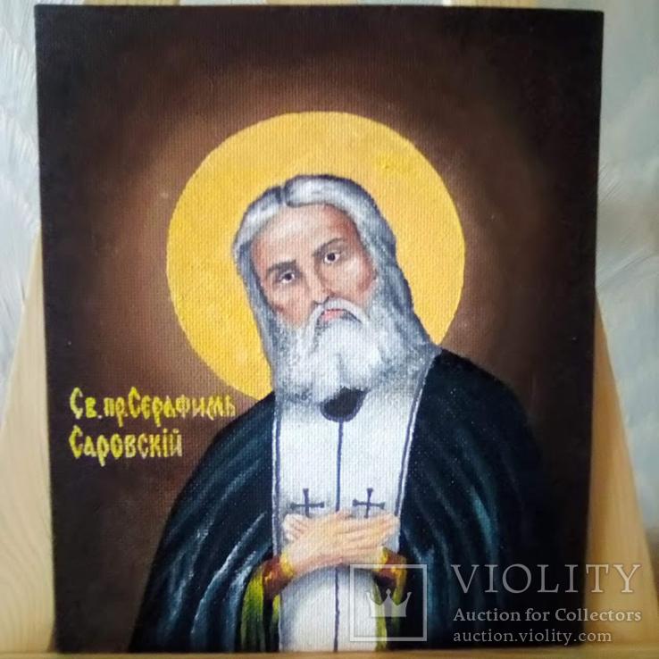 Икона Св.пр.Серафим Саровский, фото №2