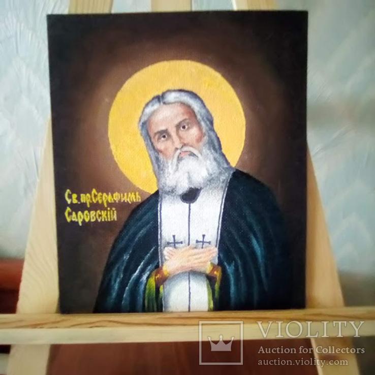 Икона Св.пр.Серафим Саровский, фото №6