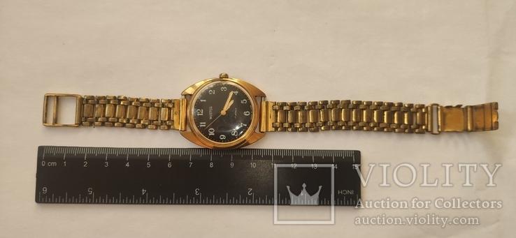 Часы wostok AU5,17 камней, браслет-позолота, фото №2