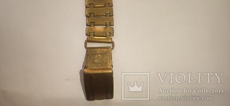 Часы wostok AU5,17 камней, браслет-позолота, фото №4