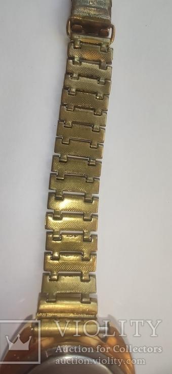 Часы wostok AU5,17 камней, браслет-позолота, фото №7