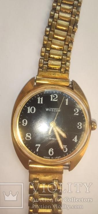 Часы wostok AU5,17 камней, браслет-позолота, фото №9