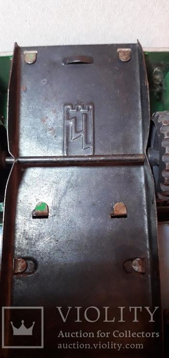 Грузовая железная машинка длиной 17,5 см.Сделано в СССР, фото №4
