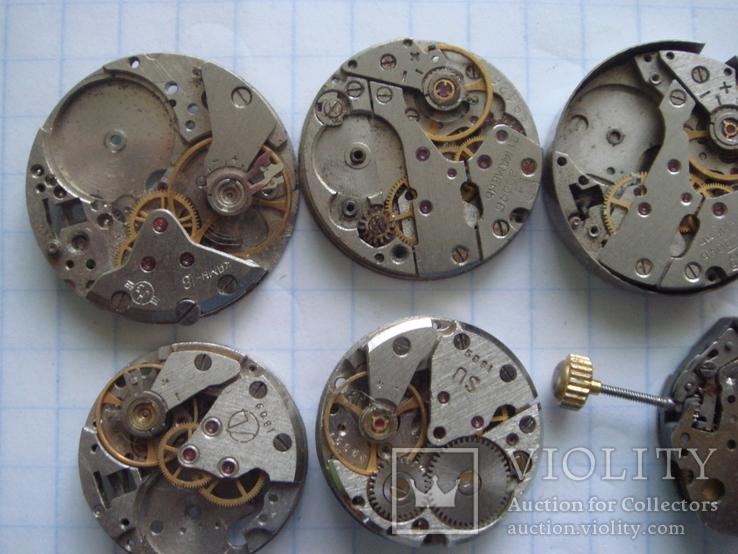 Механизмы к часам 12 шт. баланс целый., фото №3