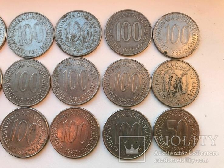53 монеты Югославии ( 100,50,20,10,5,2), фото №3