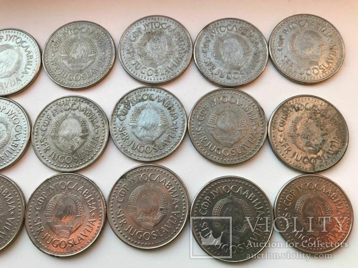 53 монеты Югославии ( 100,50,20,10,5,2), фото №5