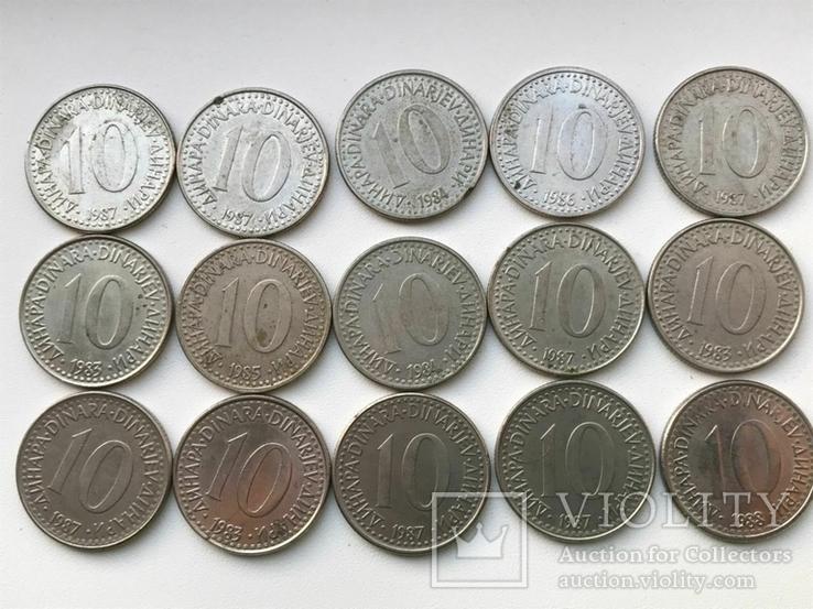 53 монеты Югославии ( 100,50,20,10,5,2), фото №12