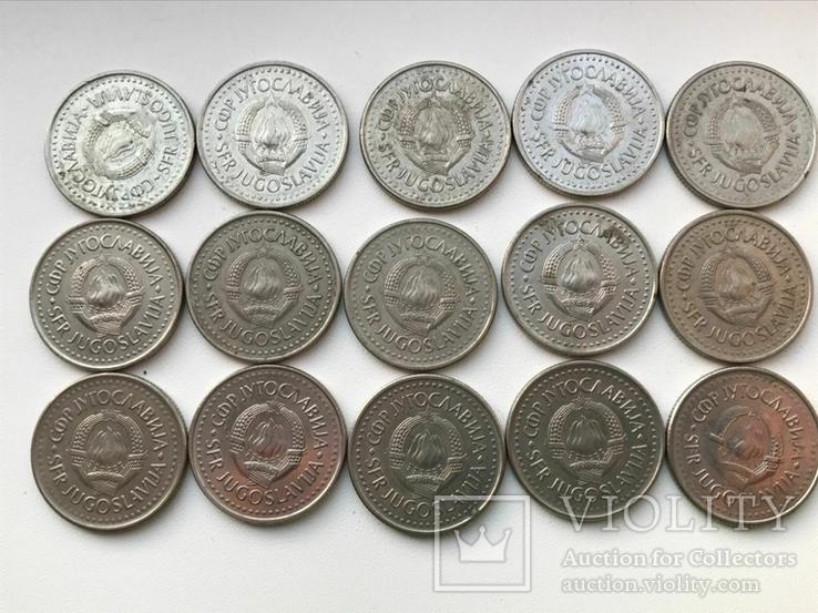 53 монеты Югославии ( 100,50,20,10,5,2), фото №13