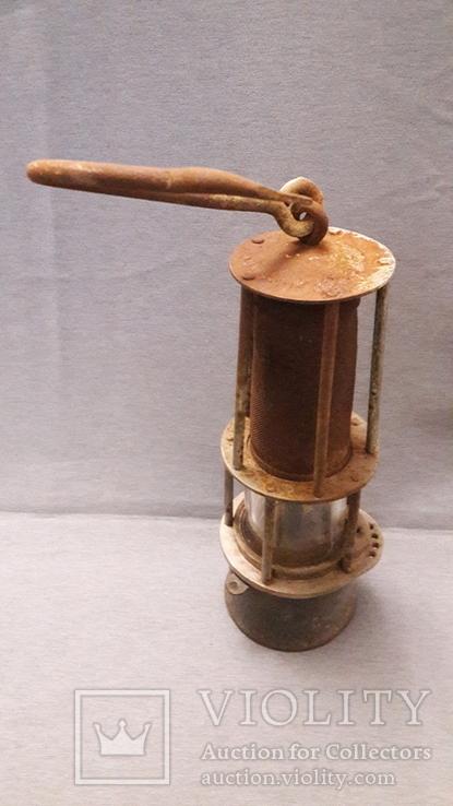 Старинная лампа шахтера. Шахтерская лампа., фото №6