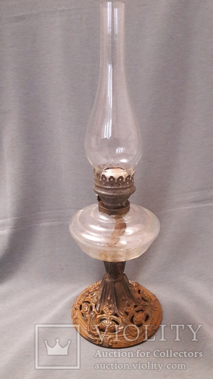 Старинная керосиновая лампа., фото №2