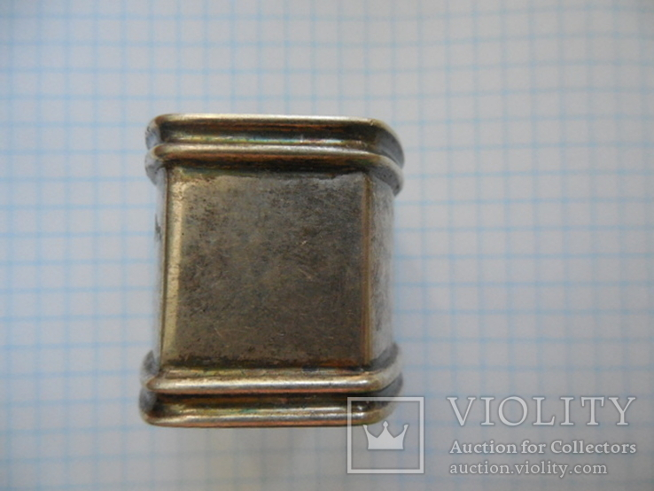 Серебро Салфетница Fabrigio необычный штапм 27,48 гр., фото №5
