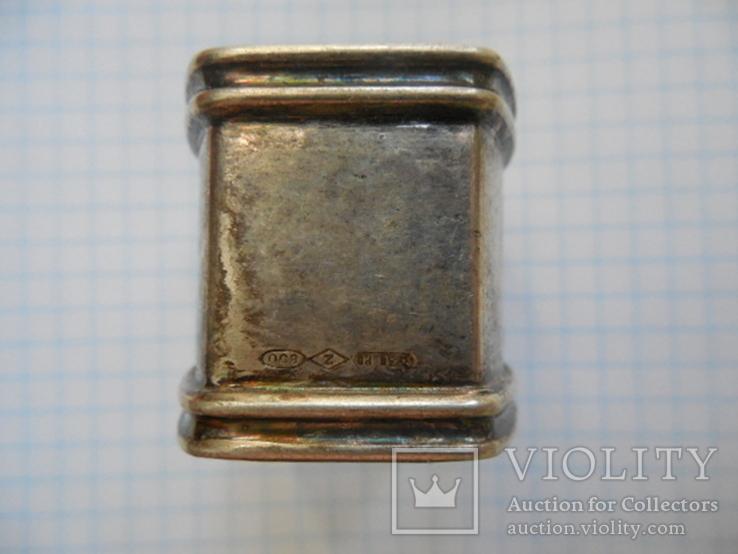 Серебро Салфетница Fabrigio необычный штапм 27,48 гр., фото №7