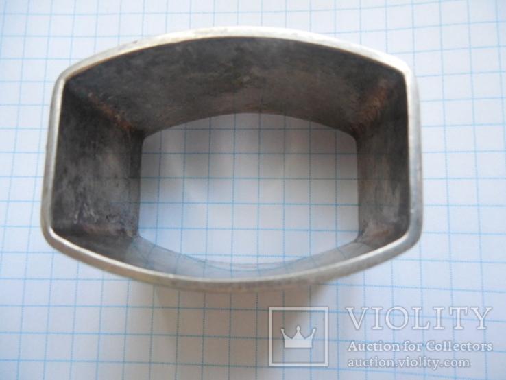 Серебро Салфетница Fabrigio необычный штапм 27,48 гр., фото №8