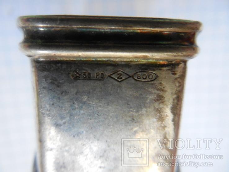 Серебро Салфетница Fabrigio необычный штапм 27,48 гр., фото №11