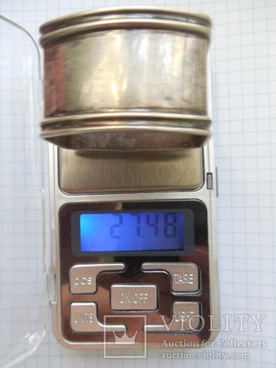 Серебро Салфетница Fabrigio необычный штапм 27,48 гр., фото №13