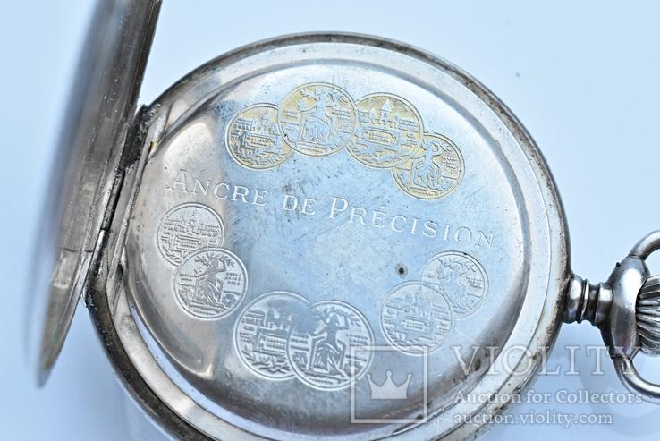 Швейцарские серебрянные часы TAVANNES