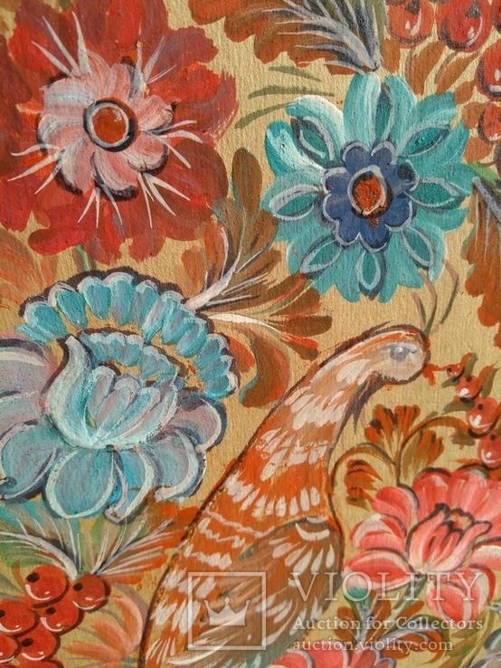 Образец росписи для кухонных досок медовая акварель. 1, фото №3