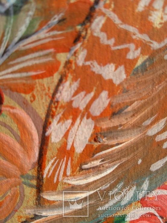 Образец росписи для кухонных досок медовая акварель. 1, фото №8