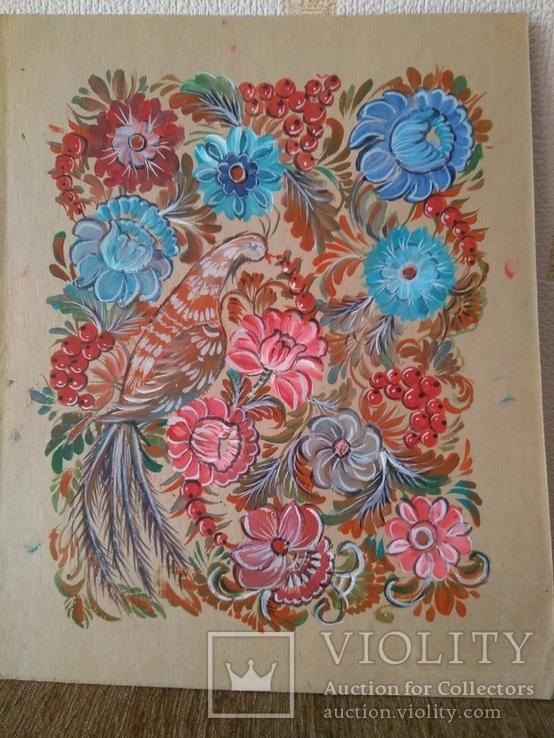 Образец росписи для кухонных досок медовая акварель. 1, фото №10