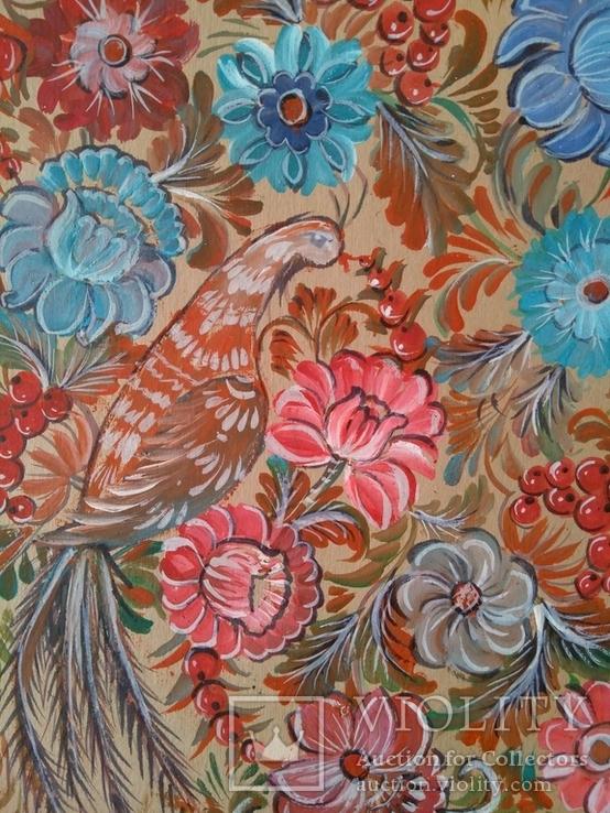 Образец росписи для кухонных досок медовая акварель. 1, фото №13