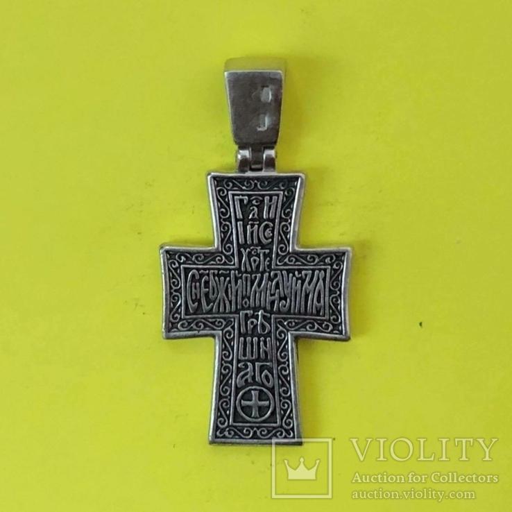 Хрест Срібло 925 проба. 7,58 грама., фото №3
