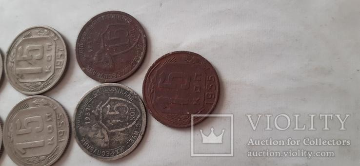 Продам10монет/15коп-года разные;см.опись, фото №9
