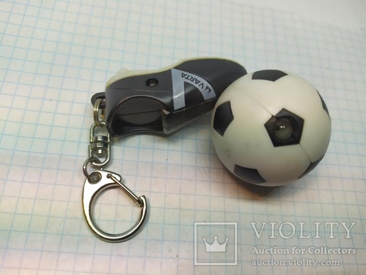 Брелок футбольный бутс с мячом. Свет (9.20), фото №9