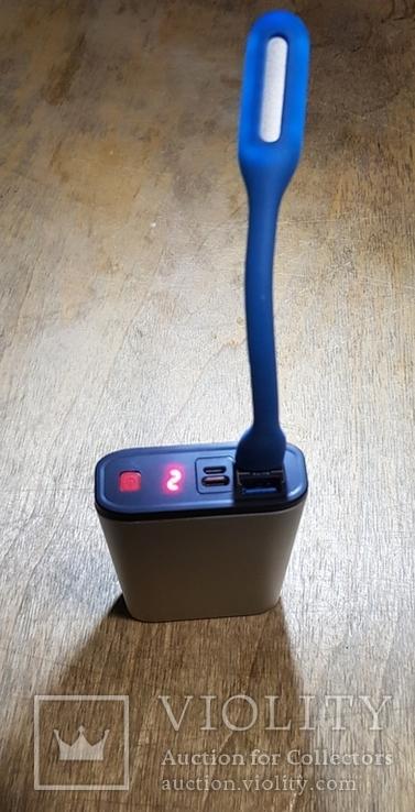 USB Лампа синяя (для powerbank, notebook), фото №7