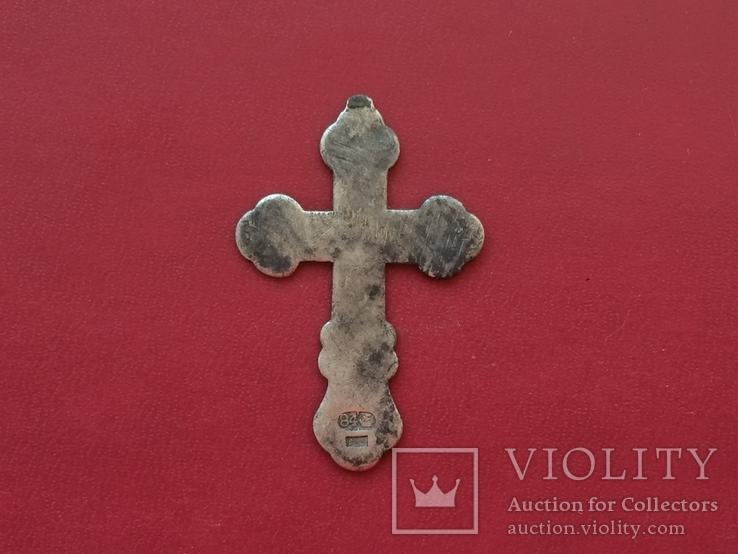 Серебряный крест с эмалями, фото №3