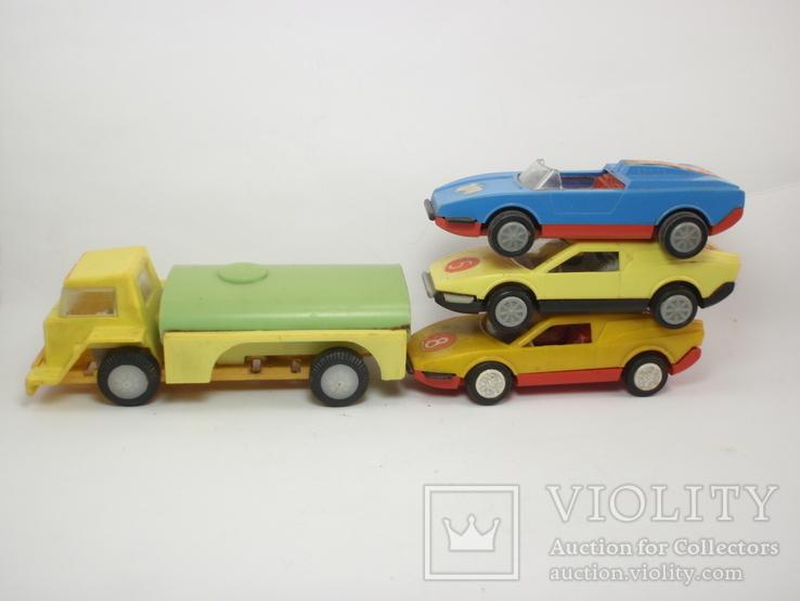 Три гоночные машинки СССР и Бензовоз, фото №2