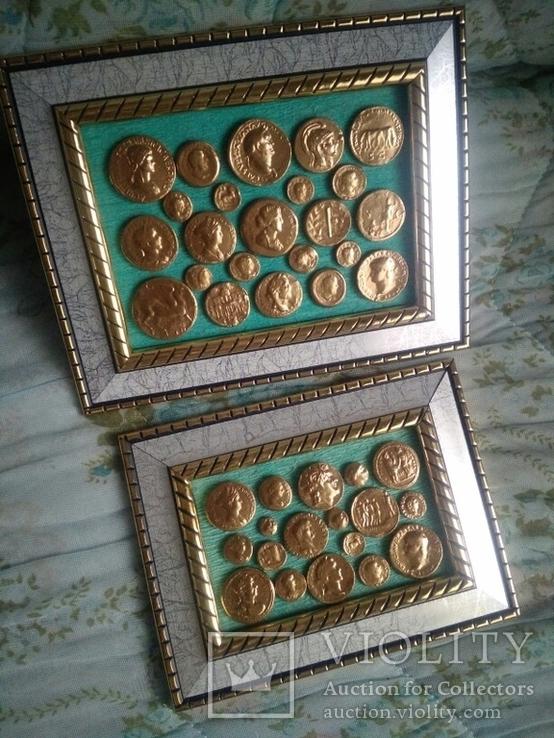 Две картины из античных монет, фото №4