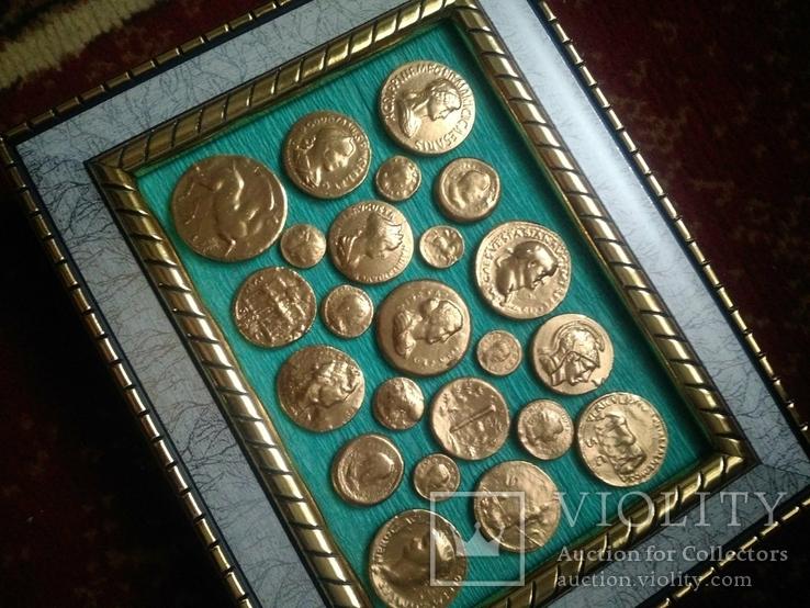 Две картины из античных монет, фото №5