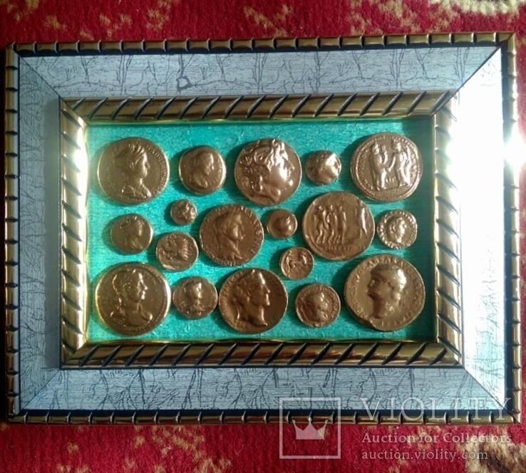 Две картины из античных монет, фото №6