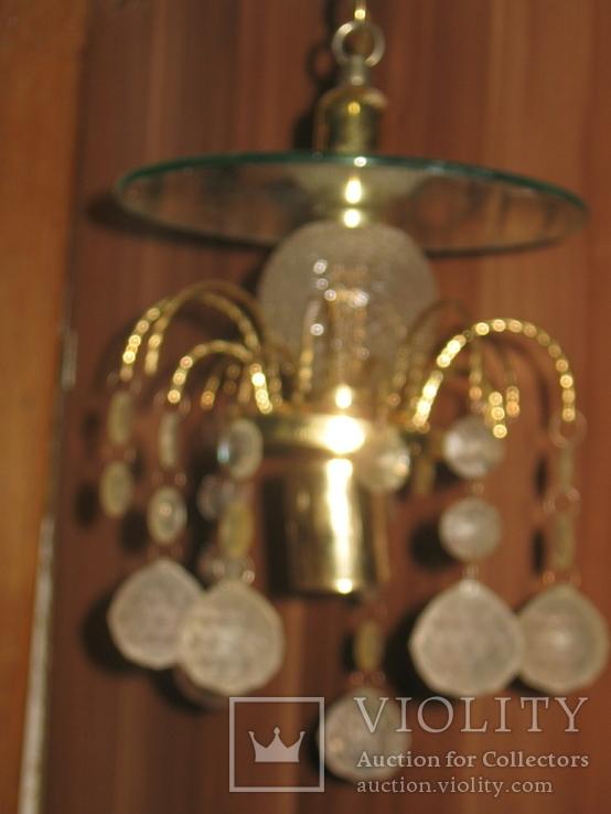 Винтажная люстра с зеркалом в ремонт, восстановление или назапчасти, фото №3