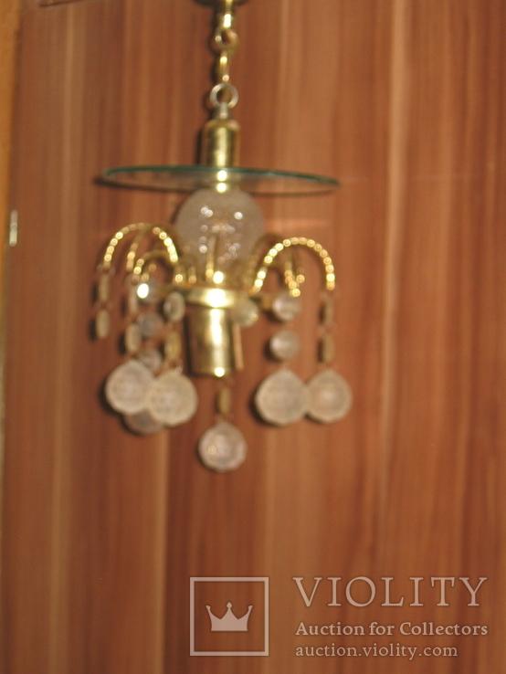 Винтажная люстра с зеркалом в ремонт, восстановление или назапчасти, фото №6