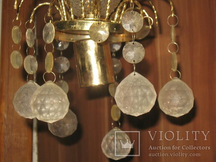 Винтажная люстра с зеркалом в ремонт, восстановление или назапчасти, фото №7