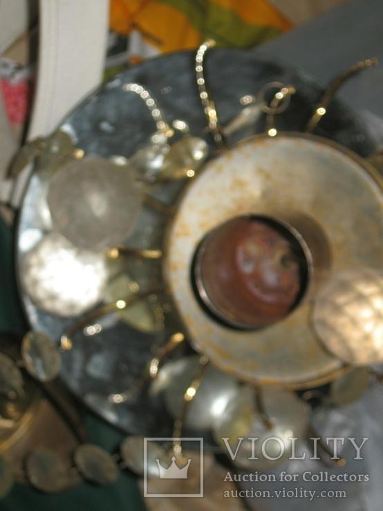 Винтажная люстра с зеркалом в ремонт, восстановление или назапчасти, фото №10