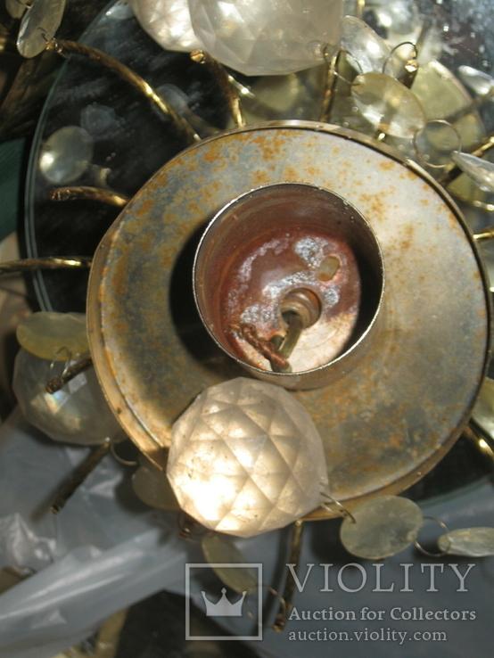 Винтажная люстра с зеркалом в ремонт, восстановление или назапчасти, фото №11