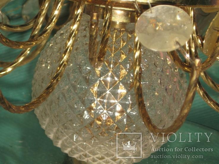 Винтажная люстра с зеркалом в ремонт, восстановление или назапчасти, фото №12