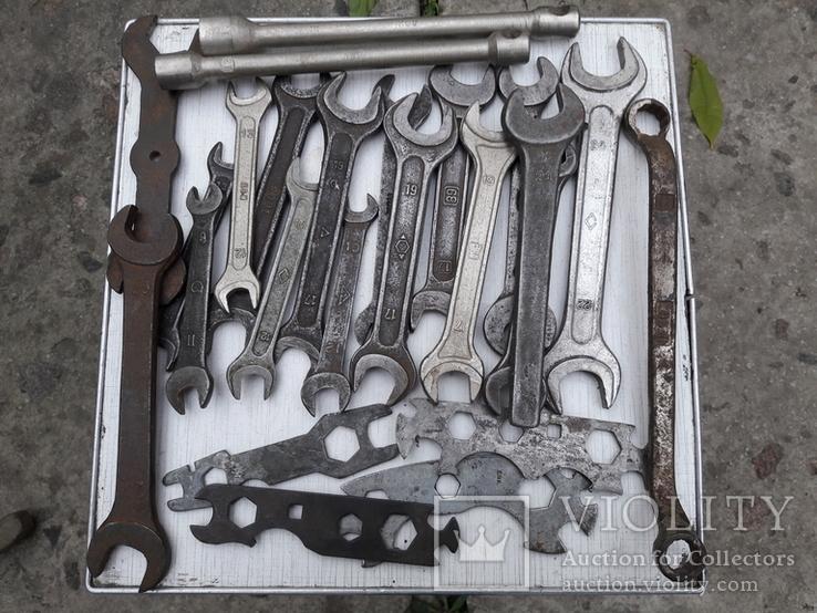 Рожковые ключи СССР 24 шт., фото №2