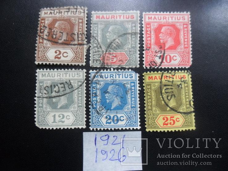 Британские колонии. Маврикий. 1921-26 гг. гаш