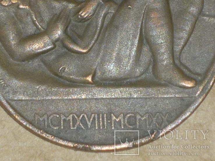 """Польша.Настольная медаль """" POLEGŁYM CZEŚĆ 1918-1920"""", фото №4"""