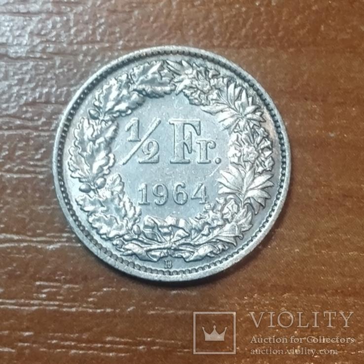 Пол-франка Швейцария 1964 г., фото №3